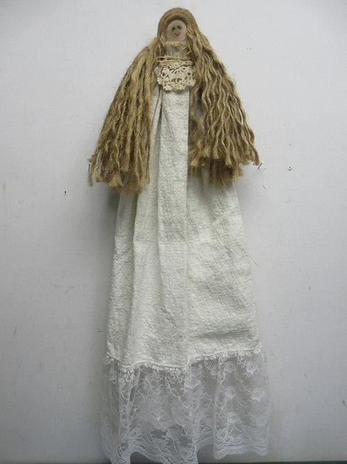 Angel hanging fabric wall hanging - ivory design