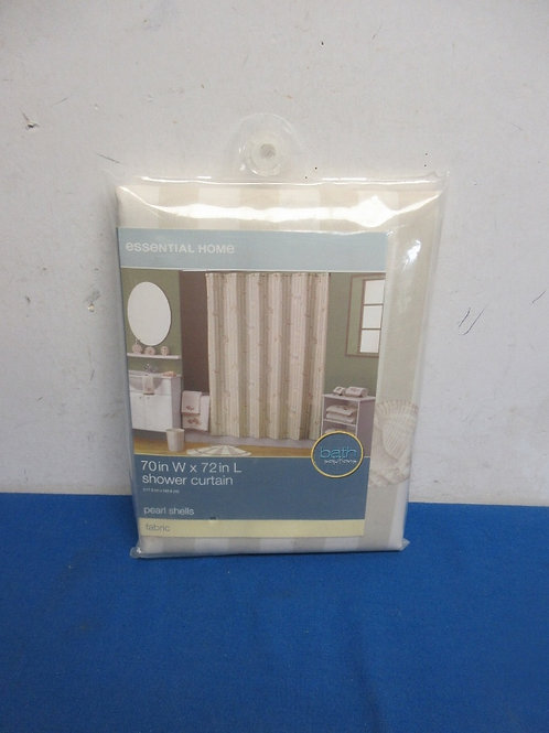 Essential pearl shells shower curtain, New