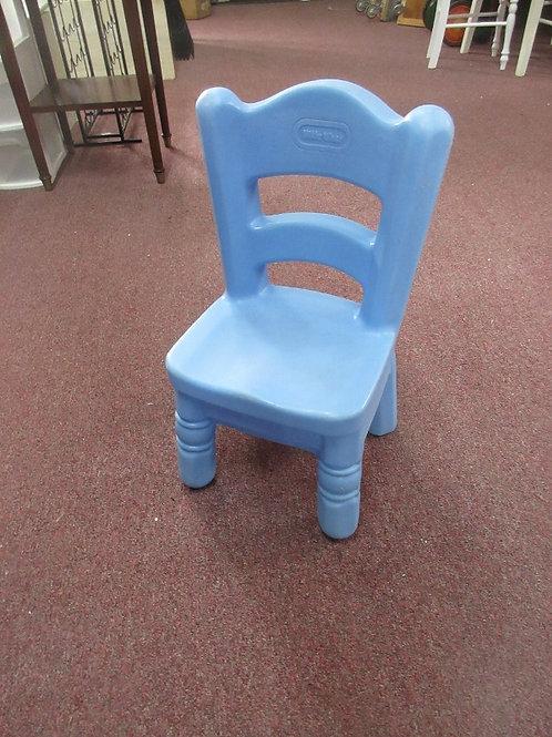 Little Tikes blue resin children's chair