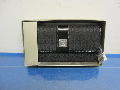 Giani Bernini black ladies clutch wallet, new
