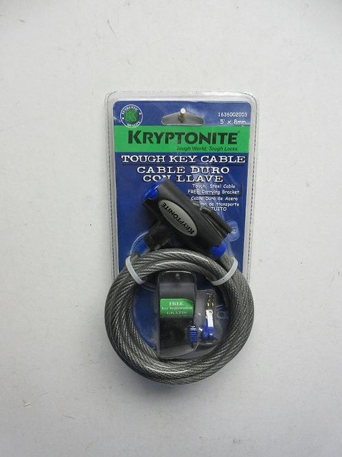 Kryptonite tough key cable bike lock - new in package