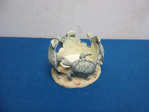 Turtle pillar candle stand