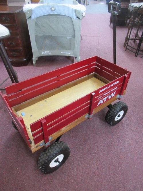 Radio Flyer All-Terrain wood cargo wagon - red