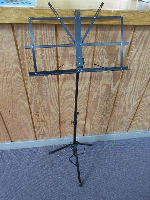 Black folding adjustaable music stand