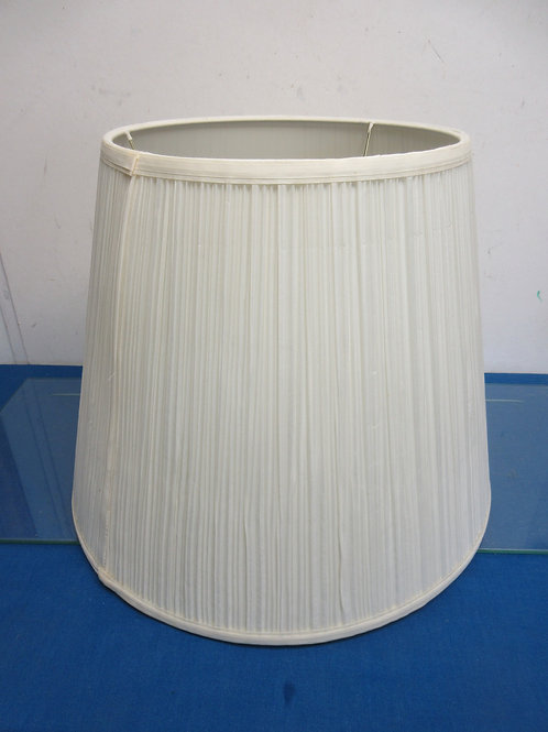 """Large biege pleated lamp shade 13.5"""" high"""