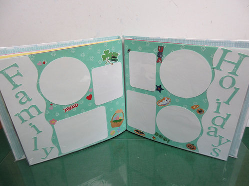 Childs custom scrapbook with pastel bubble cover for babies 1st year