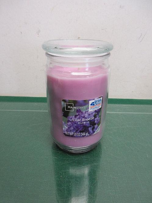 Mainstay lilac breeze 20oz, jar candle - new