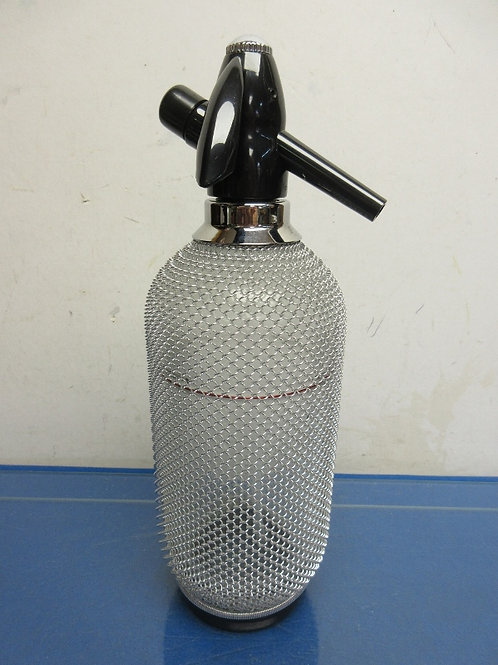 Stainless steel mesh soda water seltzer bottle , No cartridges' included