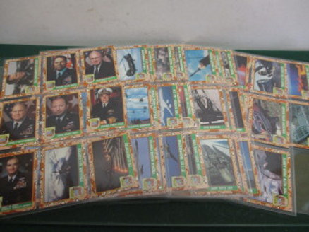 complete set of 88 desert storm cards from 1991 - 2 sets available