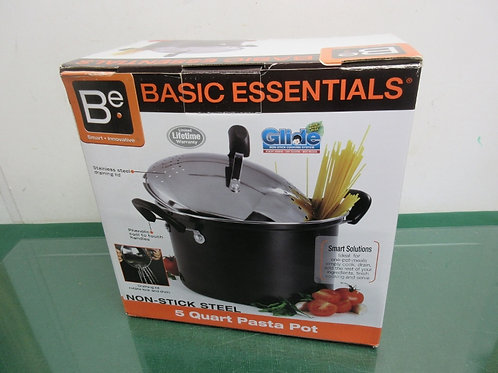 Basic Essential non stick steel 5qt pasta pot, New