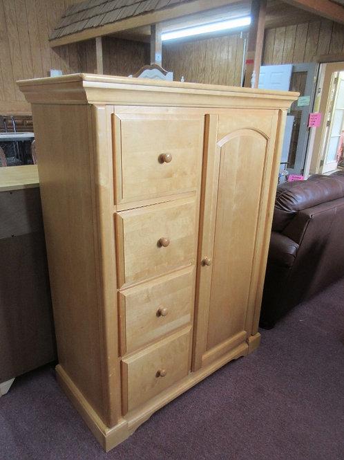 Light tone wardrobe, chest of drawers, 4 drawers, hanging bar, shelf storage, 20
