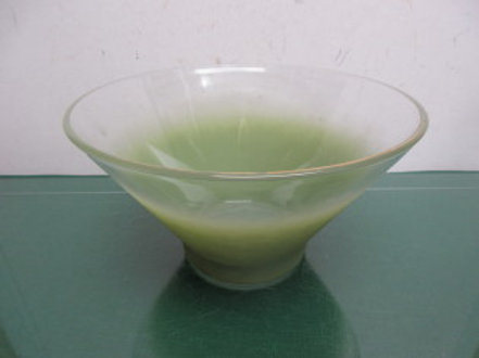 Mid century Blendo large green glass bowl