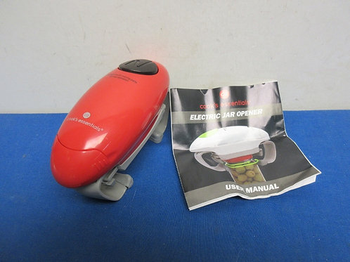 Cooks Essentials red and gray battery powered jar opener