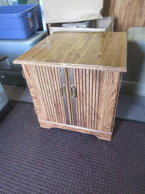Vintage square formica top endtable with bottom storage