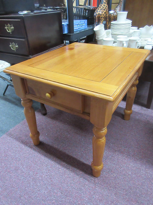 """Ashley wood light tone end table with drawer 22x26x21"""" high"""
