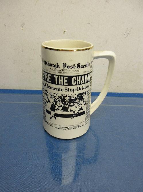 Post Gazette Pirate championship mug from 1971