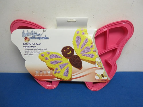 Silicone butterfly pull apart cup cake mold