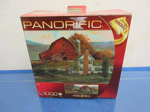 Panorific 1000pc puzzle, Farm Scene,