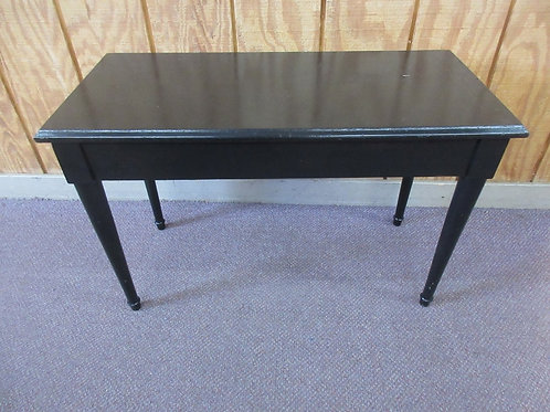 """Black painted piano bench with flip up seat for storage 14x30x19""""high"""