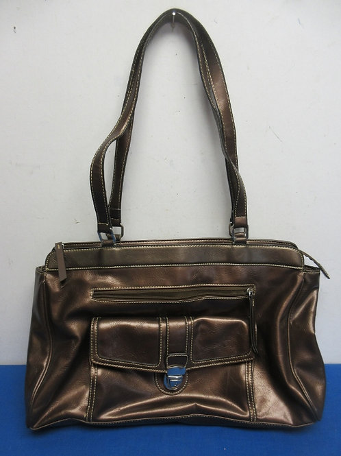 Large Liz Claiborne bronze purse