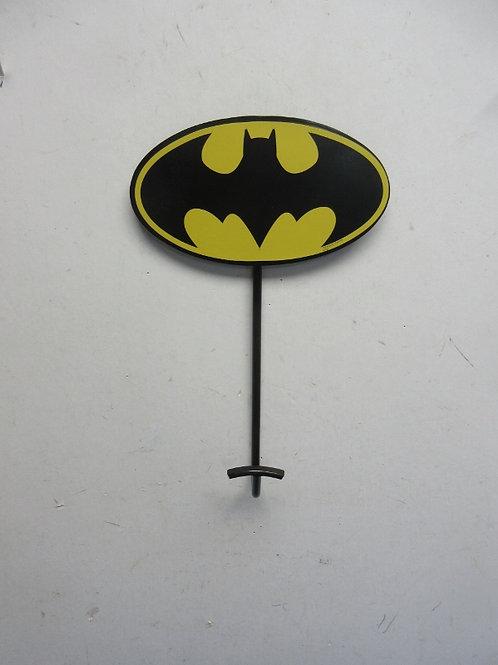 Batman single wall hook with bat signal top