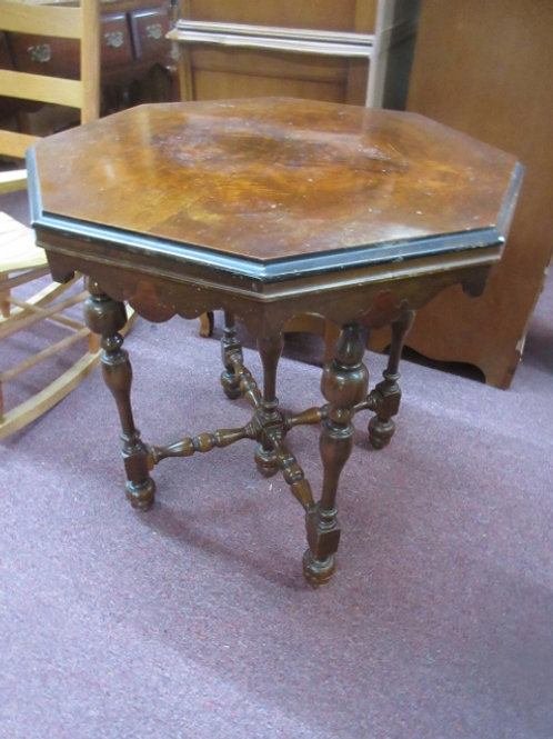 """Vintage octagon accent table with 5 legs, 28"""" across ,30"""" high, Wear"""