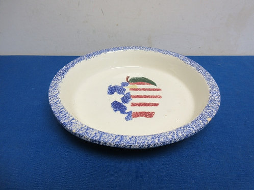 ceramic red,white, and blue pie plate