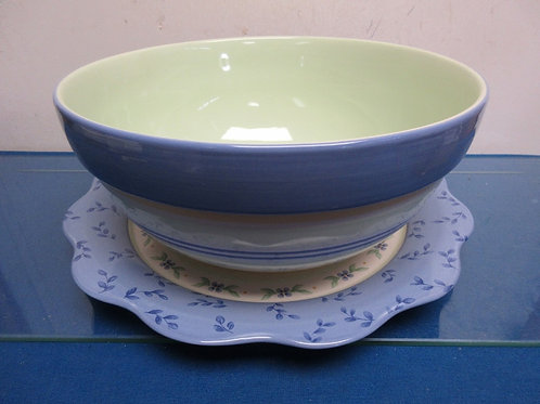 Pfaltzgraff Summer Breeze xlarge serving bowl and round platter