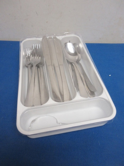 Stainless flatware, 20 pc, service for 4