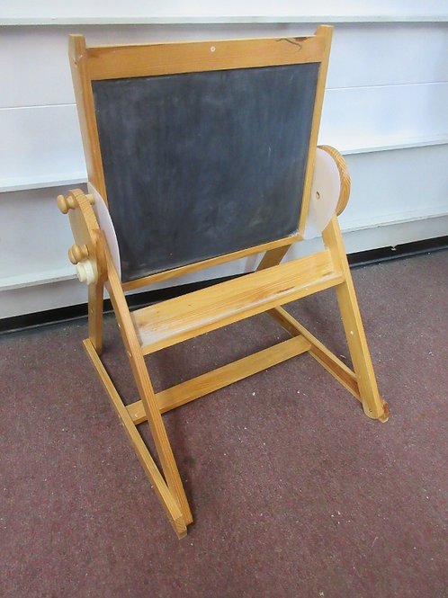 Double sided easel one side black board, other side white board