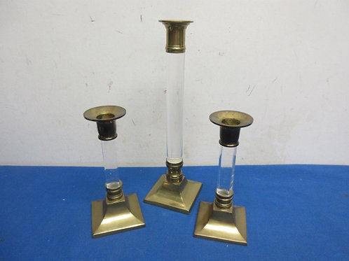 Set of 3 taper candle holders