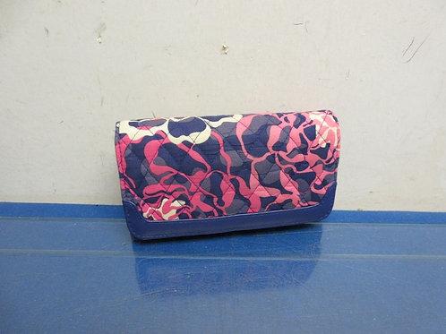 Vera Bradley pink & blue flower pattern wallet