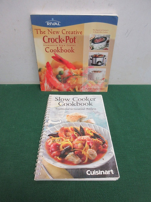 Pair of slow cooker cook books