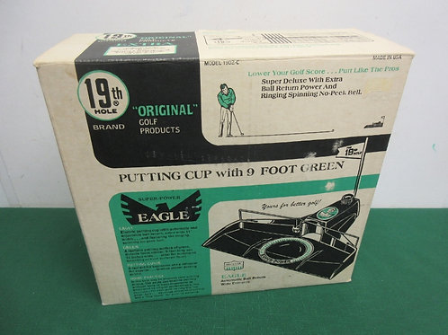 Putting cup w/9ft green, automatic return