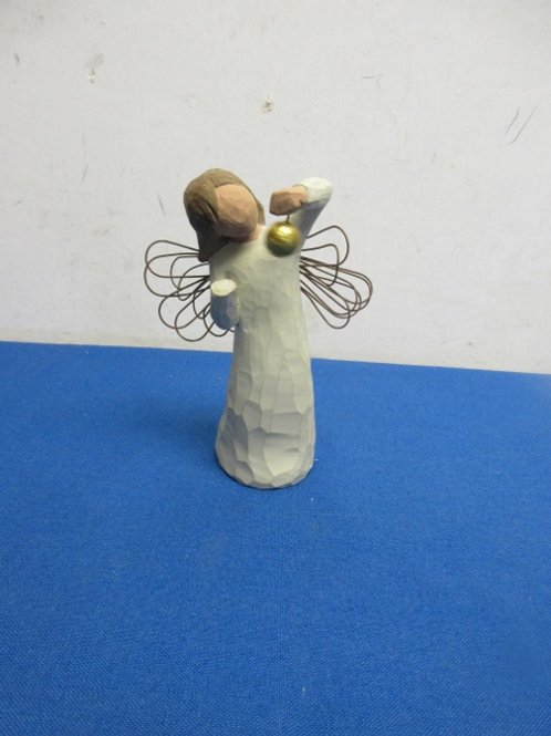 """Willow tree angel statue -standing holding a ball 5"""",2 available"""