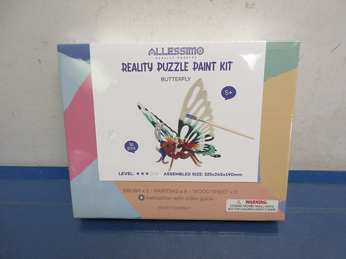 Allessimo create and paint kit, butterfly, ages 5 & up, New, sealed