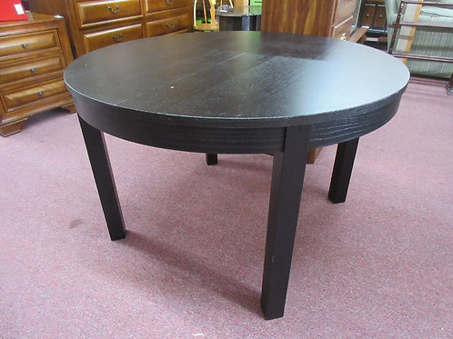 """Ikea black round table with pop up leaf-45"""" diameter"""