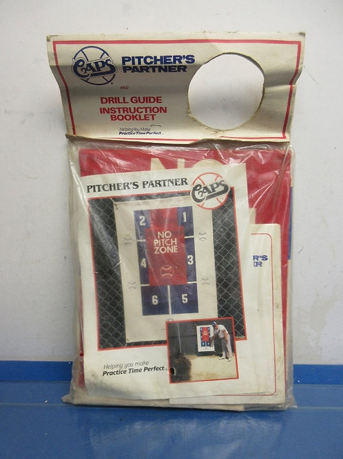 Pitcher's Partner, baseball pitcher guide, instruction booklet, New in package