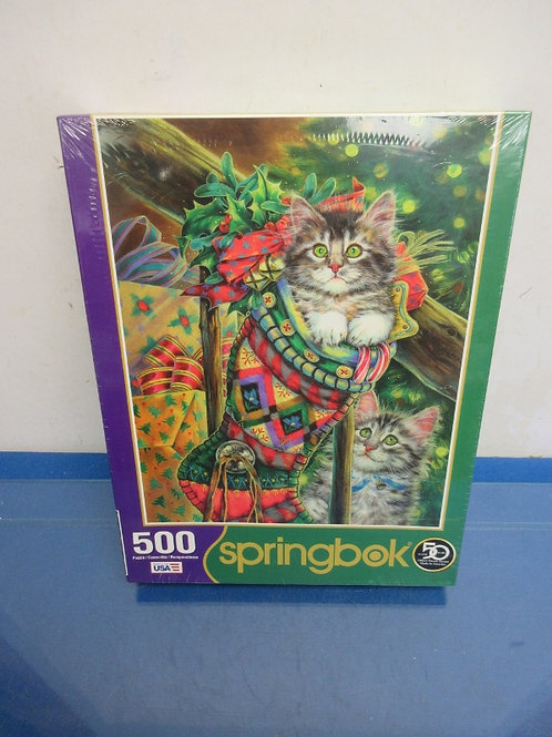 Springbok 500 pc jigsaw puzzle, kittens