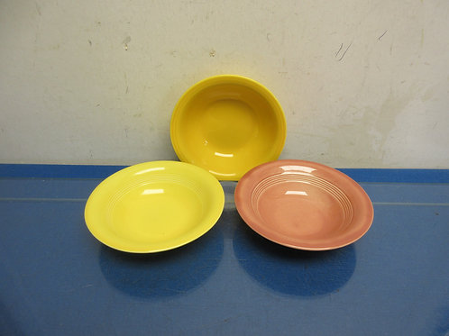 Fiesta set of 3 assorted colored small bowls
