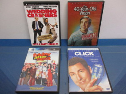 Set of 4 DVD's - 40 year old virgin, Click, Friday after next and Wedding crashe