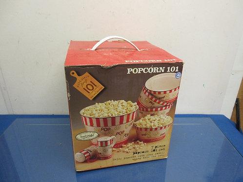 Popcorn 7 pc popcorn 101 set, ceramic