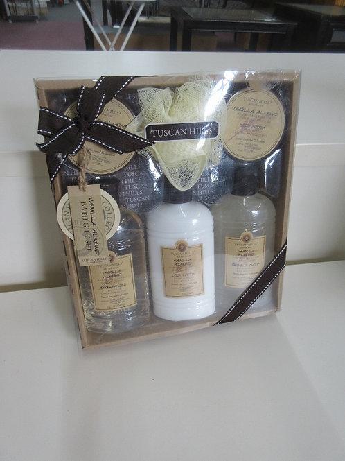 Tuscan Hills bath set, shower gel, lotion, bubble bath, bath salts and more, New
