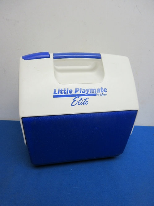 Igloo little playmate elite blue and white cooler