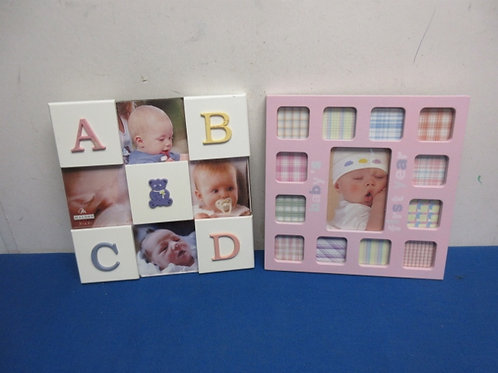 Pair of baby collage photo frames both New