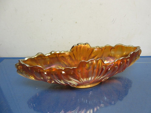 Vintage irridescent glass long planter bowl