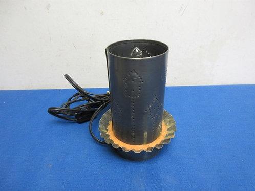 Handmade small punched metal nite lite lamp
