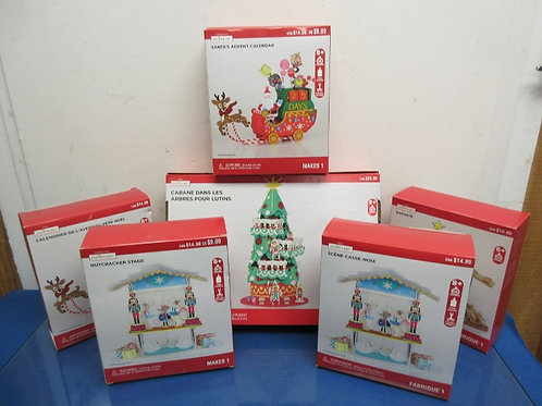 Set of6 creatology holiday craft sets,  assorted styles, 1 large box