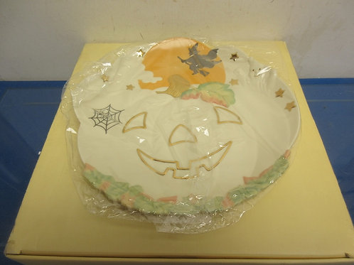 Lenox occasions-jack-o-lantern- low candy bowl-in box
