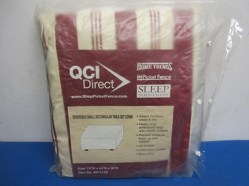 """QCI Direct reversible small rectanglar table cover 74 W x 44""""deep, 30"""" high"""